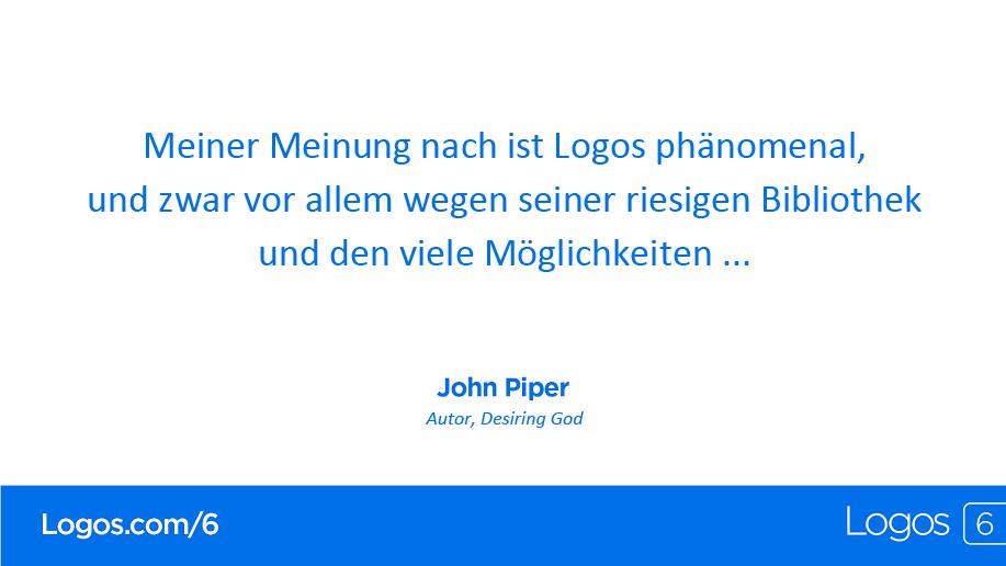 Logos 6 John Piper