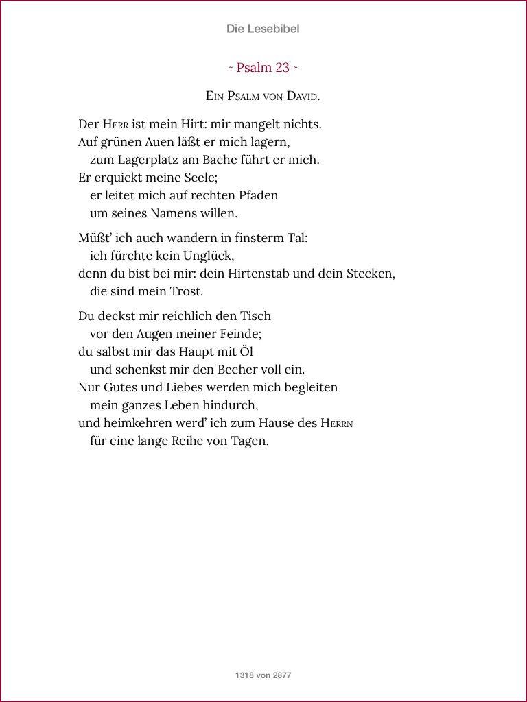 Die Lesebibel - Psalm 23