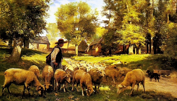 Shepherd-with-Flock-610x351