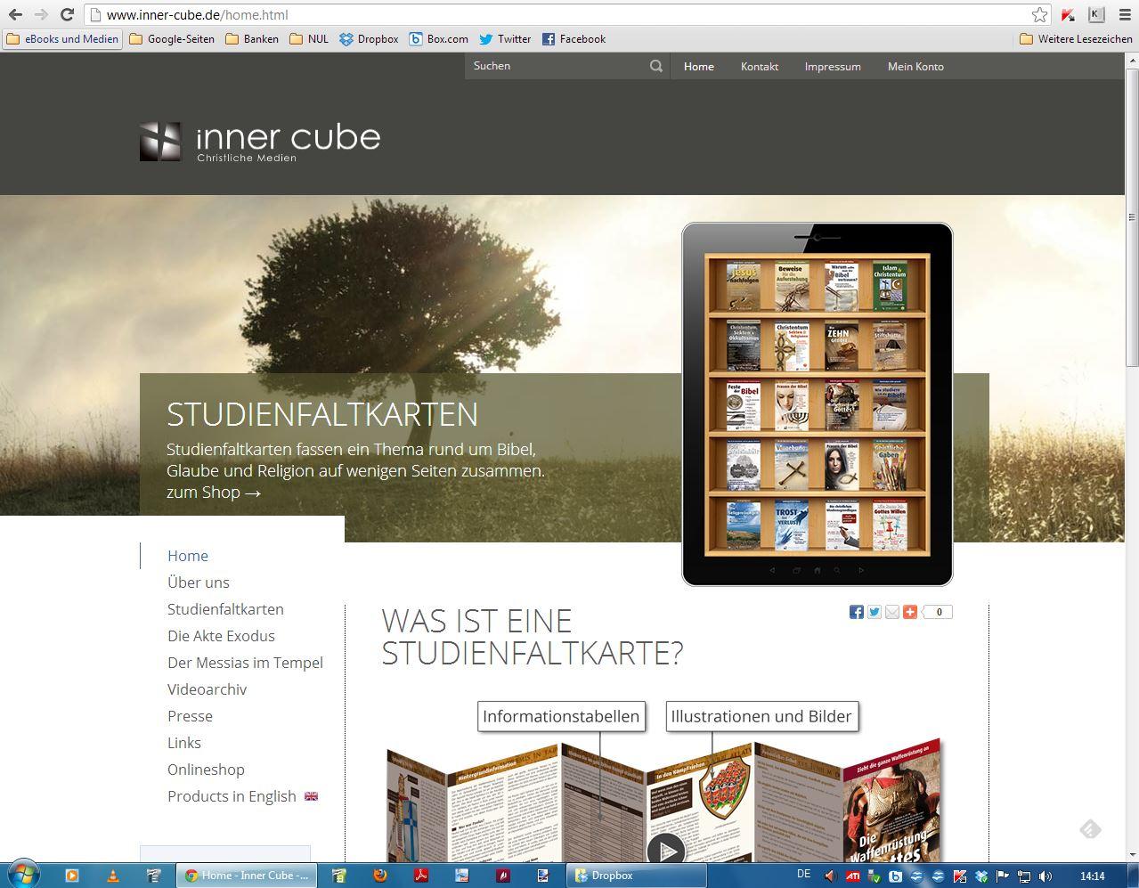 inner cube mit neuem online shop nimm und lies. Black Bedroom Furniture Sets. Home Design Ideas